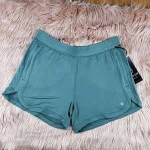 Women's Heather Army Green Active Life Shorts